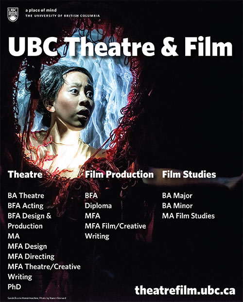 View Theatre at UBC's Program Brochure
