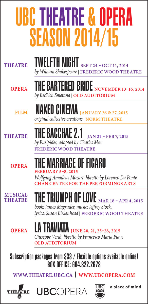 ubc theatre and opera season poster
