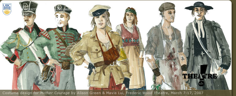 Character Design Job Canada : Theatre at ubc mother courage and her children by bertolt